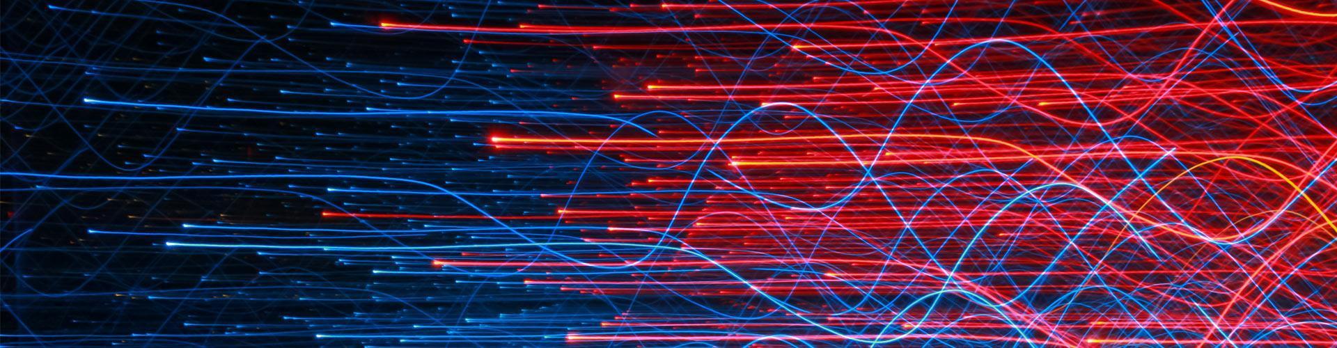 визуализация потока цветных лучей
