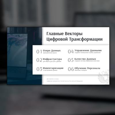 Слайд для презентации Счетной Палаты на тему цифровой трансформации рабочих процессов организации
